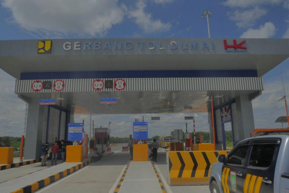 1 Tahun Beroperasi 4 Juta Kendaraan Melintas di Jalan Tol Pekanbaru - Dumai