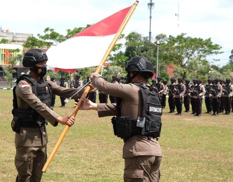 100 Personel Brimob Polda Riau Pulang Usai Selesaikan Tugas di Papua