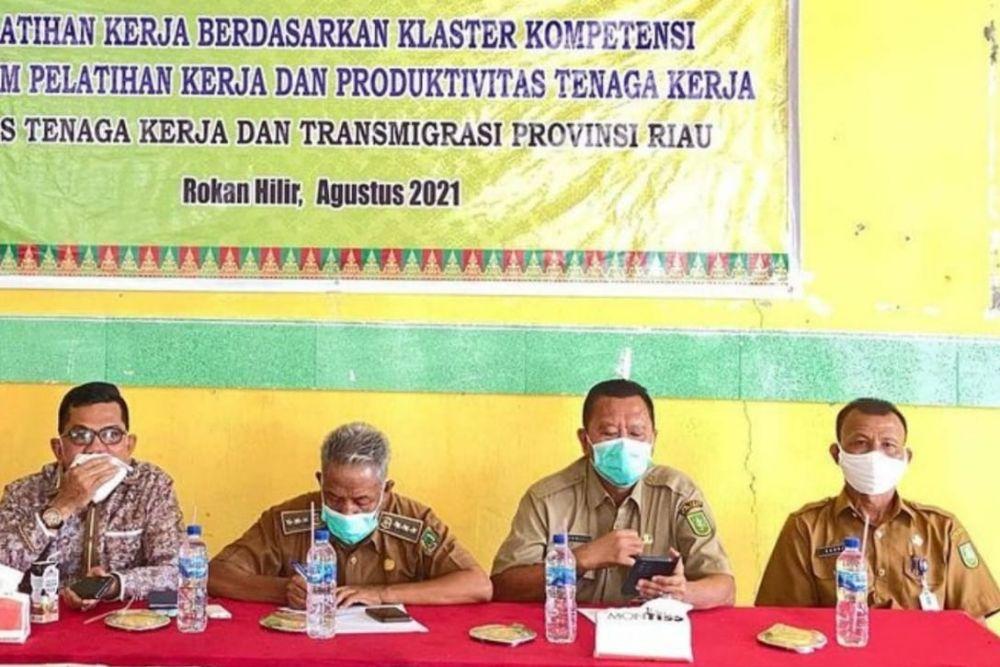 64 Warga Pujud Ikuti Pelatihan Keterampilan Disnakertrans Riau