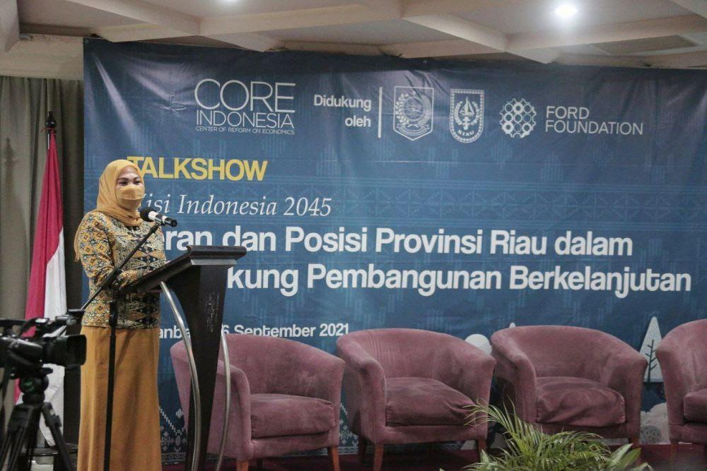 Asisten II Setdaprov Riau Buka Talkshow Ekonomi Regional CORE Indonesia