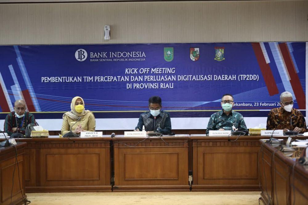 Asisten II Setdaprov Riau Hadiri Akselerasi Persiapan Pembentukan TP2DD Provinsi Riau