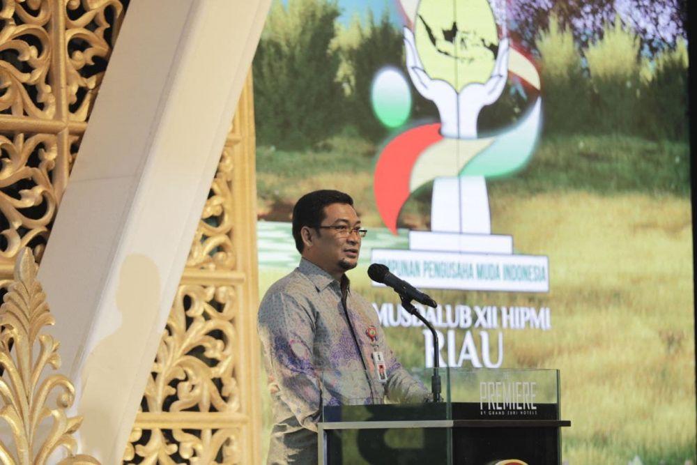 Asisten III Setdaprov Riau Buka Kegiatan Musda XII HIPMI Riau