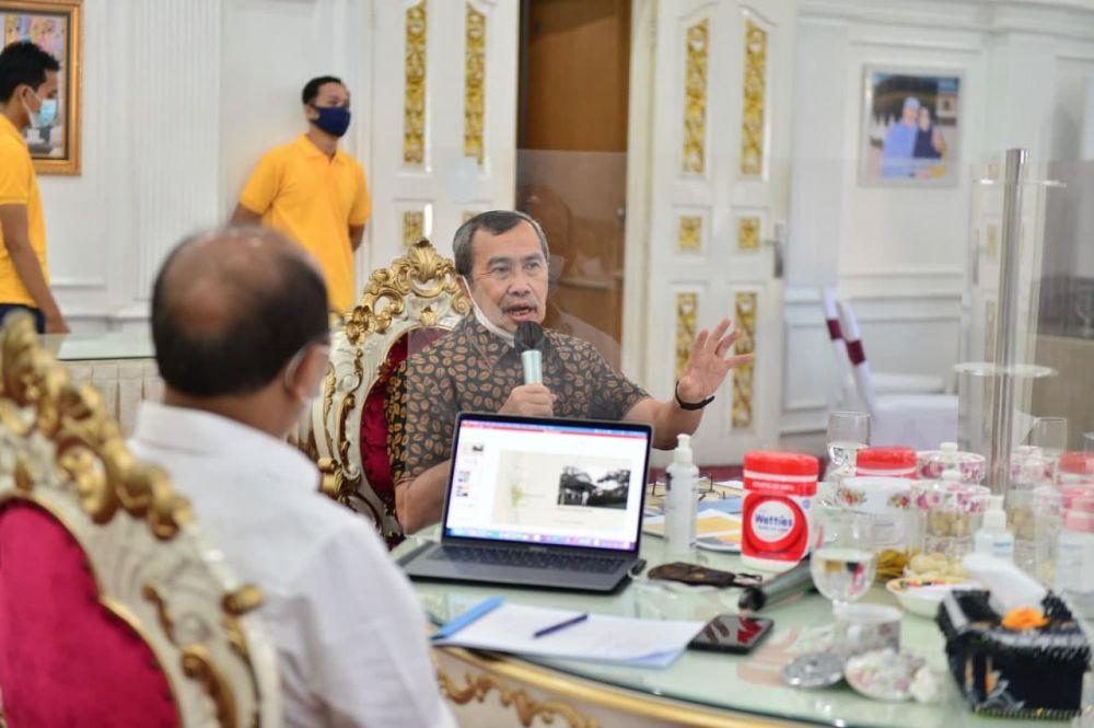 Bahas Cagar Budaya Bagan Heritage, Gubri Rapat Bersama Tim Ahli Cagar Budaya