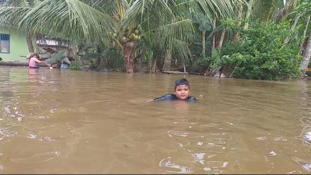 Banjir Desa Tanjung Balam, Pemerintah Belum turunkan Bantuan