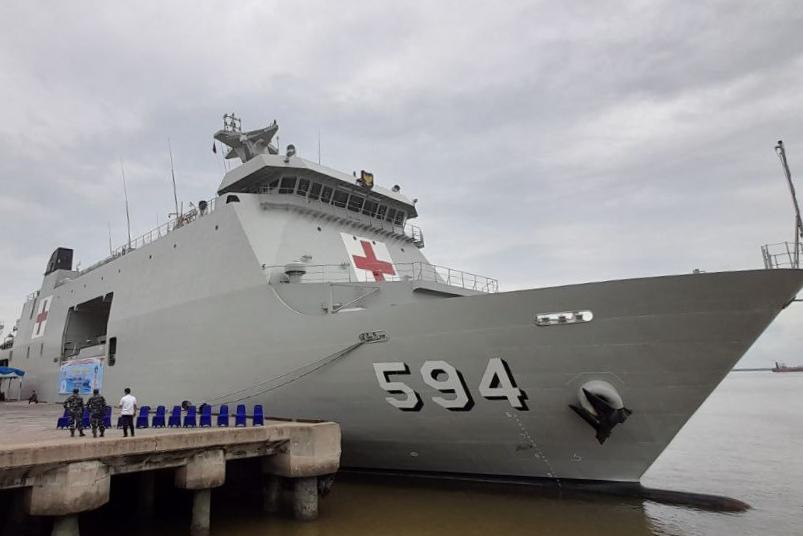 Bantu Hadapi Corona di Riau, Inilah Kapal Perang RI Semarang-594