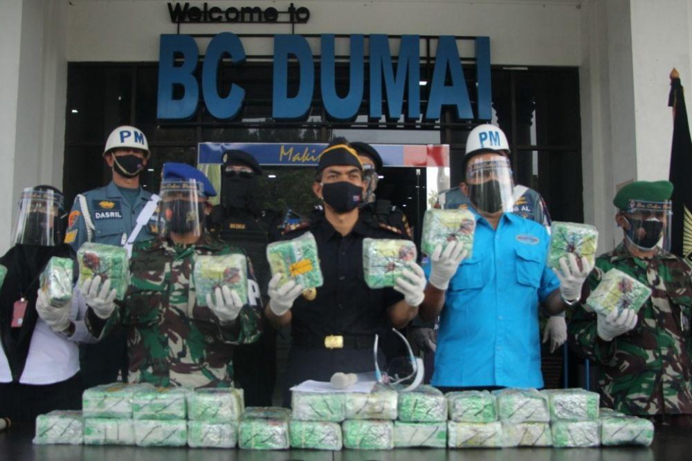 Bea Cukai Dumai Berhasil Amankan 50 Kg Sabu Asal Malaysia
