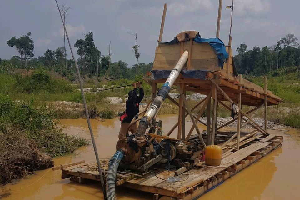 Begini Aksi Polisi Berantas Tambang Emas Ilegal di Kuansing Riau