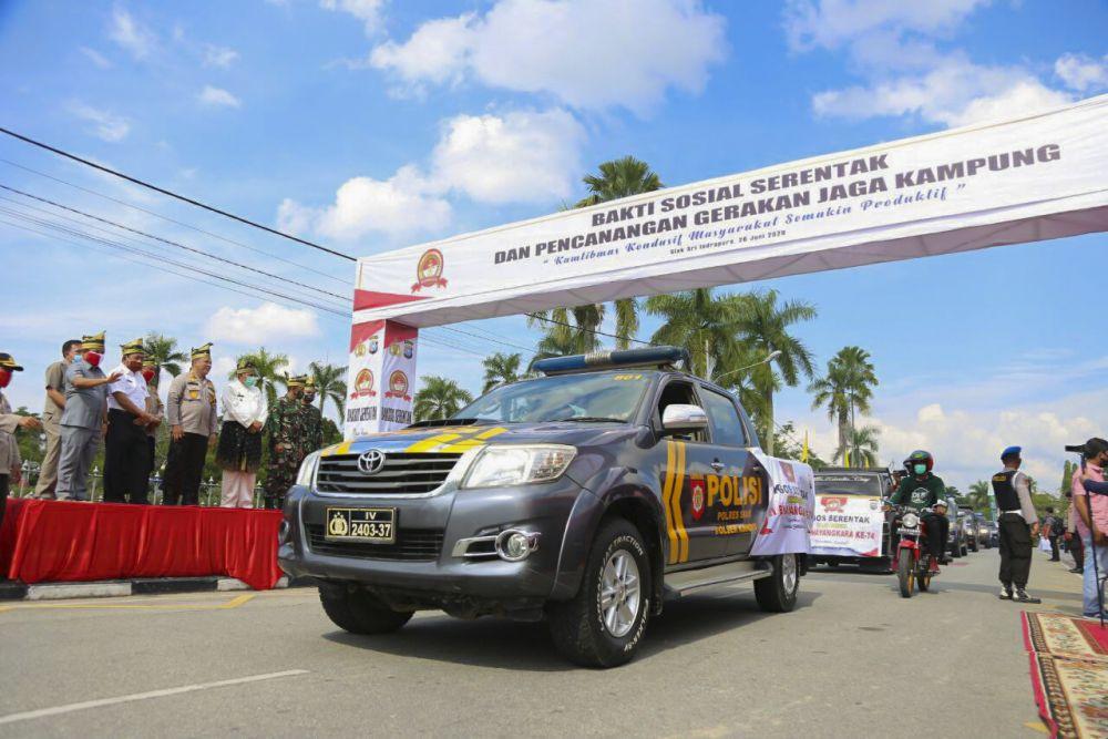 Begini Gerakan Jaga Kampung di SiakBesutan Polda Riau