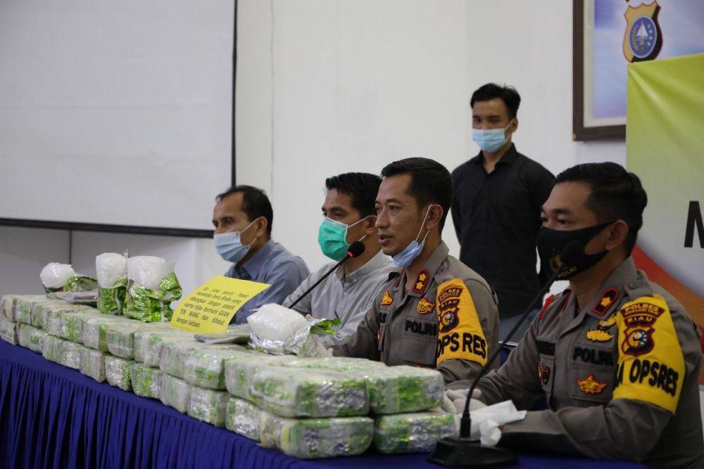 Berantas Narkoba, Polres Inhil Amankan Sabu 50 Kilogram