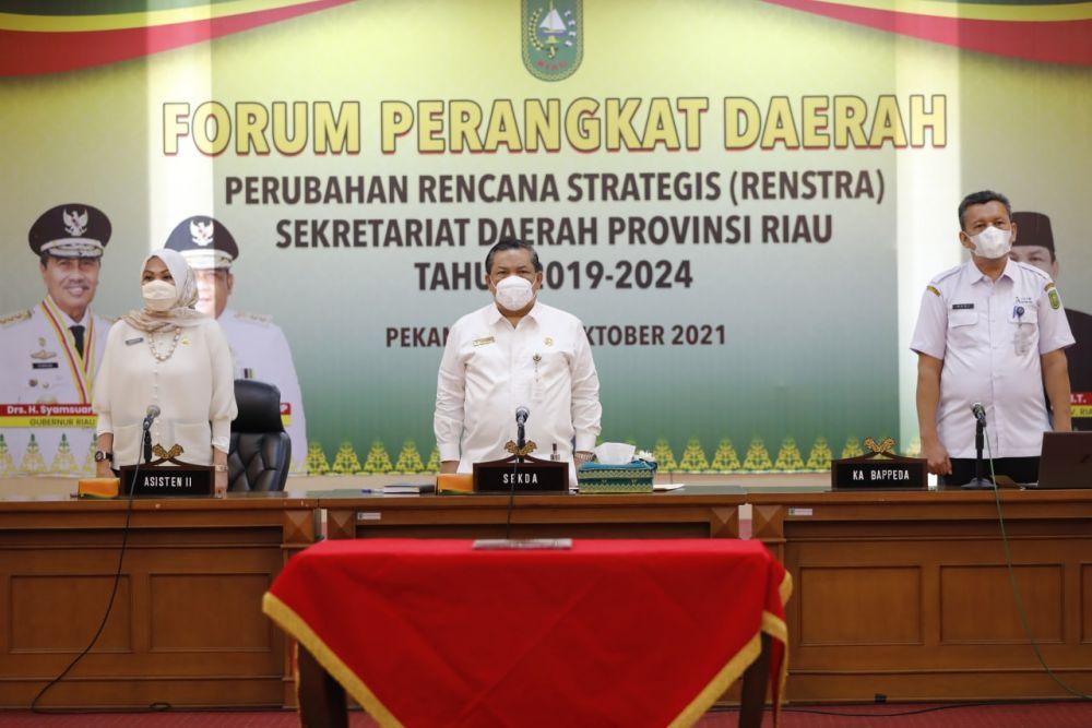Biro Adpim Setdaprov Riau Bahas Perubahan Renstra 2019-2024