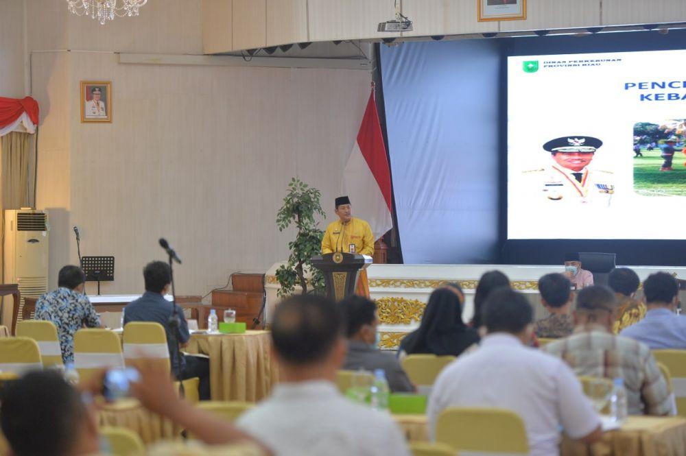 Cegah Karhutla Pemprov Riau Kumpulkan 100 Perusahaan Perkebunan dan Petani