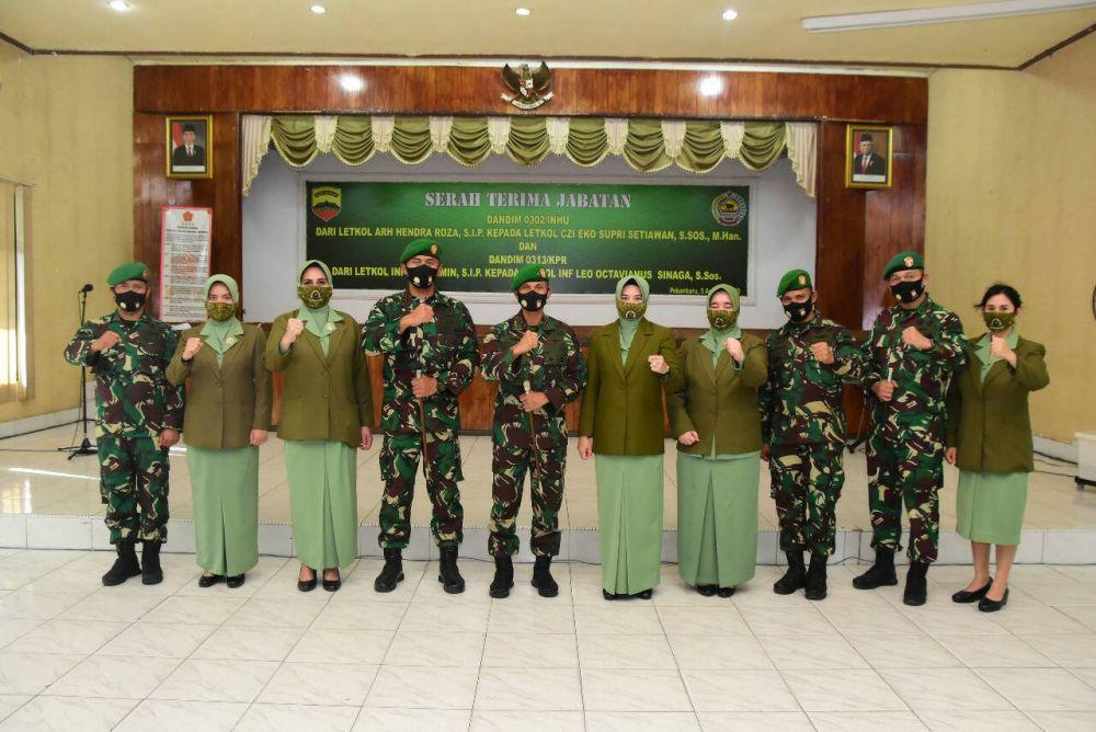 Danrem 031/WB Pimpin Sertijab 2 Dandim di Riau