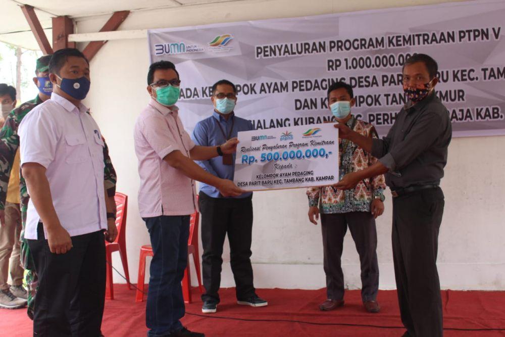 Desa Lumbung Ayam Pedaging Riau Mendapat Kucuran Modal Rp500 juta