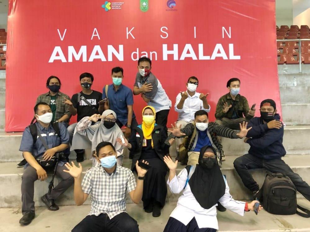 Diberikan Vaksinasi Covid-19, SIWO PWI Riau Ucapkan Terimakasih Ke Pemprov Riau