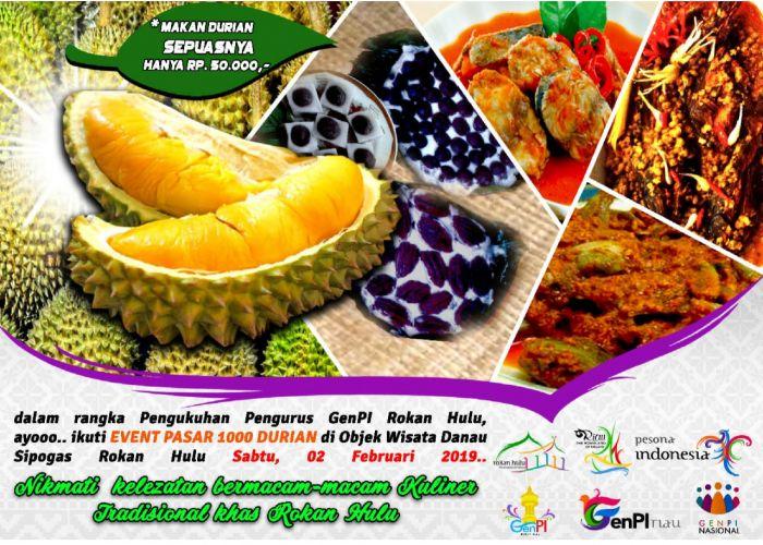Disparbud Rohul Gelar Pesta 1000 Durian