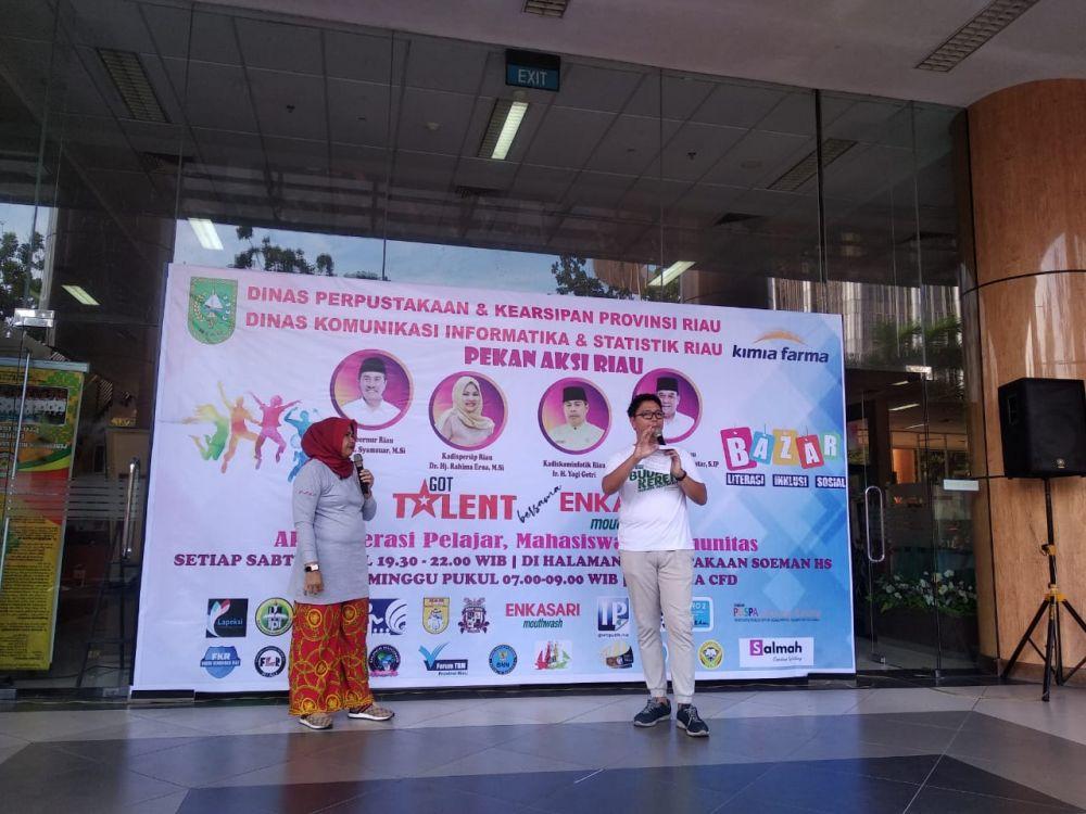 Dispersip Bersama Diskominfotik Riau Launching Program Got Talent