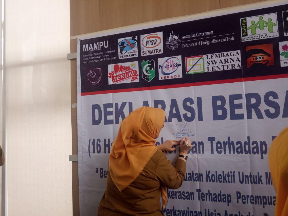 DPPPA Riau Deklarasikan Anti Kekerasan Terhadap Perempuan