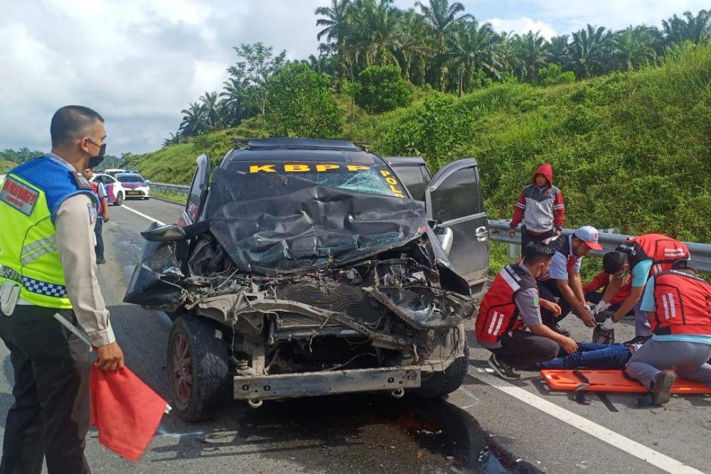 Dua Hari Kecelakaan Beruntun di Tol Permai, Satu Terbalik Satu Lagi Rusak Berat