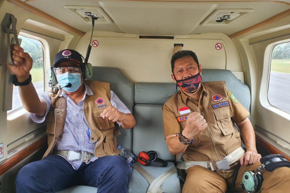 Empat Helikopter Padamkan Karhutla di Pelalawan