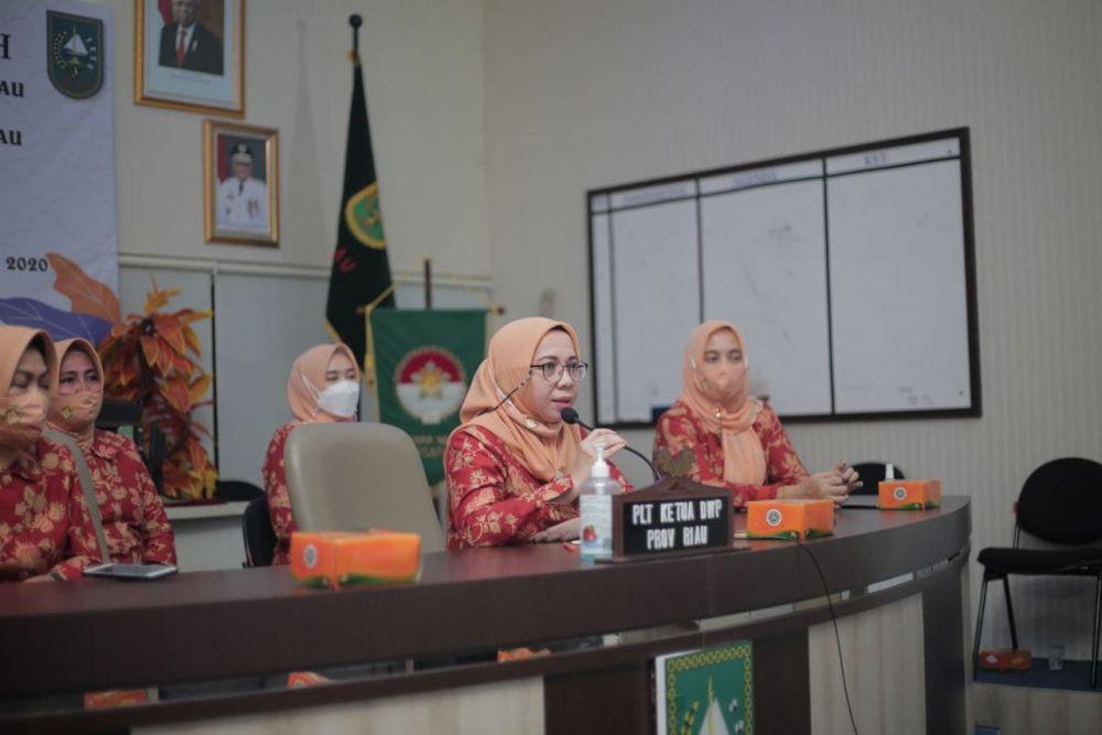 Gelar Halal Bihalal Bersama DWP se-Riau, Pj Ketua Dharma Wanita Riau Ajak Patuhi Prokes