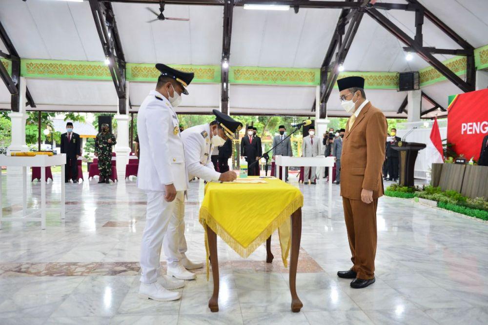 Gubernur Riau Minta Bupati Pelalawan Kerja Ekstra Penanganan COVID-19 dan Pemulihan Ekonomi