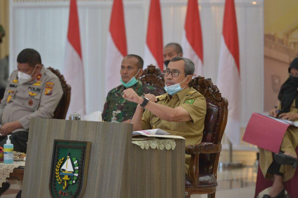 Gubri Ajak Kabupaten/kota di Riau Sama-sama Tangani Lonjakan Covid-19