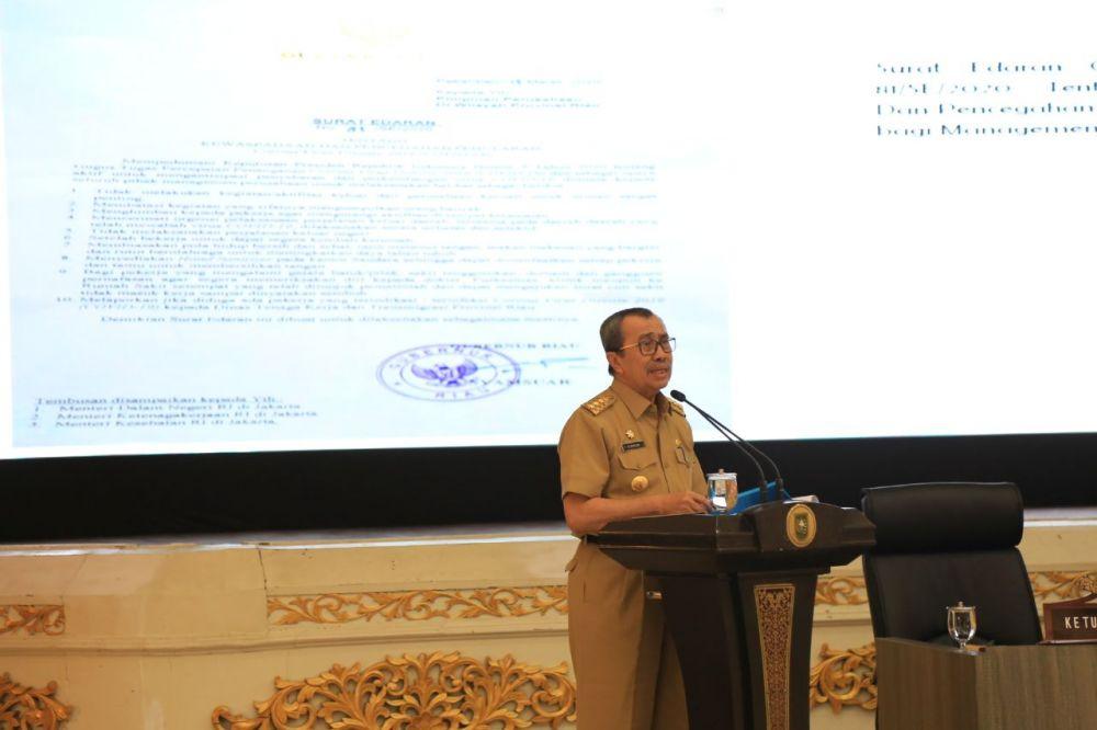 Gubri Bentuk Gugus Tugas Percepatan Penanganan Covid-19 di Riau