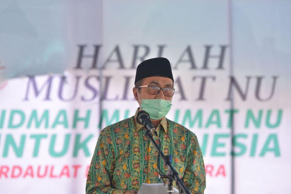 Gubri Hadiri Harlah Muslimat NU Ke-75 di Pelalawan
