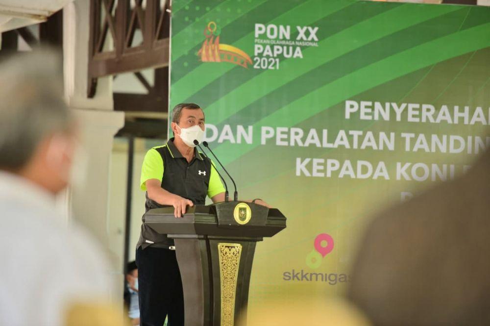 Gubri Ingatkan Peserta PON XX Papua 2021 Perwakilan Riau Untuk Segera Vaksin