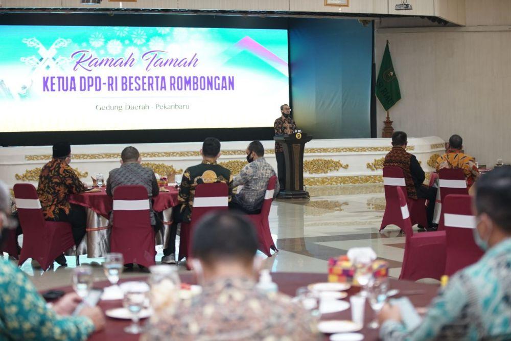 Gubri: Kunker DPD RI Semoga Menjadi Pendorong Pembangunan Provinsi Riau