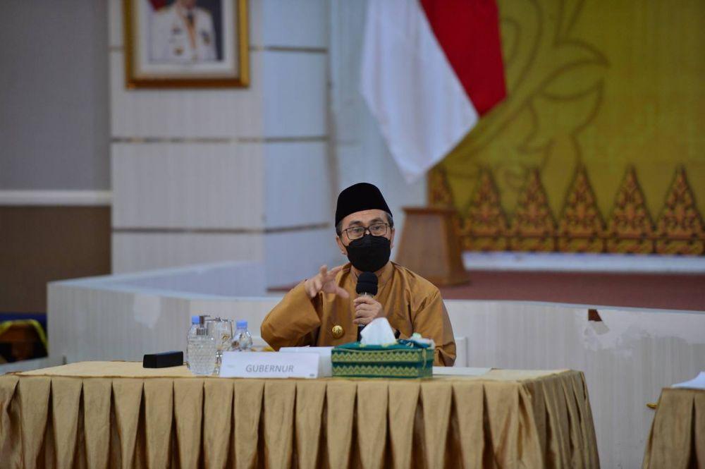 Gubri Pimpin Rapat Bahas Tumpang Tindih Ruas Jalan Yang Jadi Kewenangan Provinsi dengan BMN