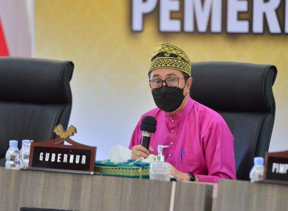Gubri Pimpin Rapat Terkait Pembangunan Rumah Oksigen Gotong Royong