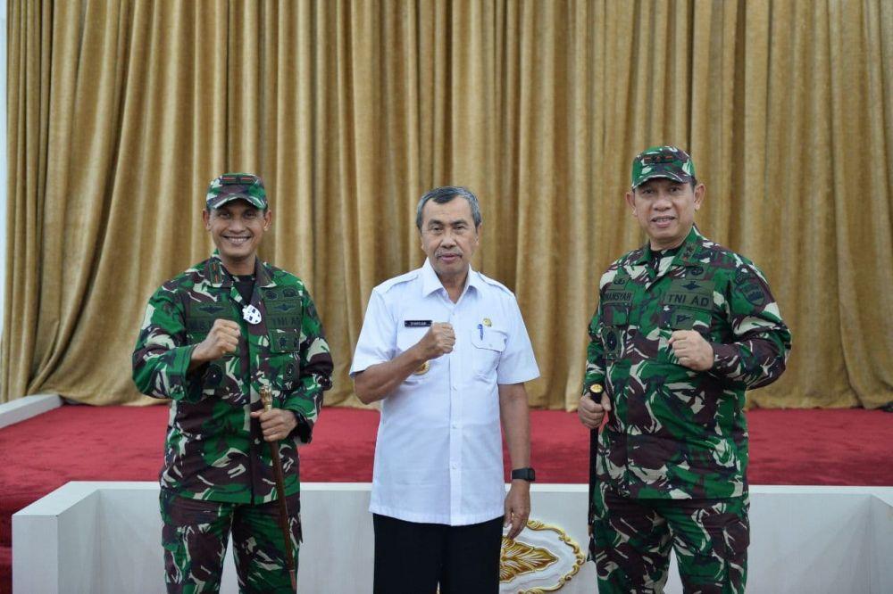 Gubri Terima Kunjungan Pangdam I / Bukit Barisan