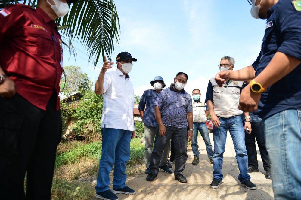 Gubri Tinjau Infrastruktur 4 Kabupaten/Kota di Riau