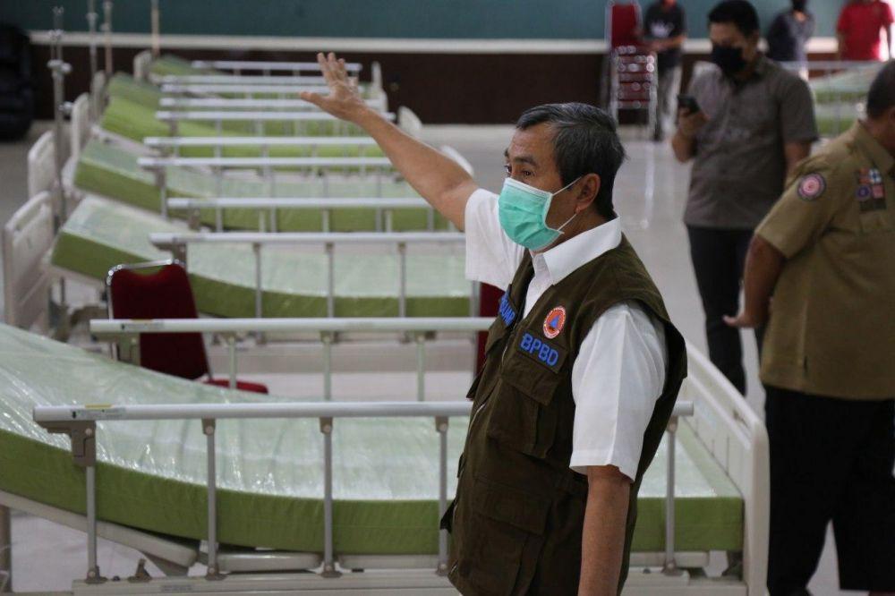 Gubri Tinjau Kesiapan Gedung Karantina Mahasiswa Riau Dari Luar Negeri