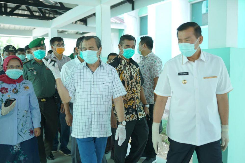 Gubri Tinjau Persiapan RSD Madani Pekanbaru dan RSJ Tampan