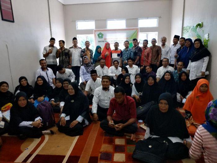 Guru PAI se-Kecamatan Bantan Uji Kompetensi dan Galang Dana untuk Korban Gempa dan Tsunami