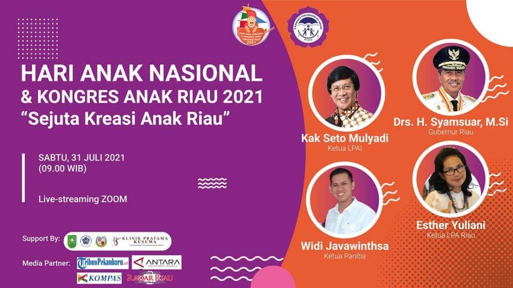 Hadiri Anugerah Sejuta Kreasi Anak Riau, Gubri: Semoga Anak Riau Terus Hasilkan Prestasi