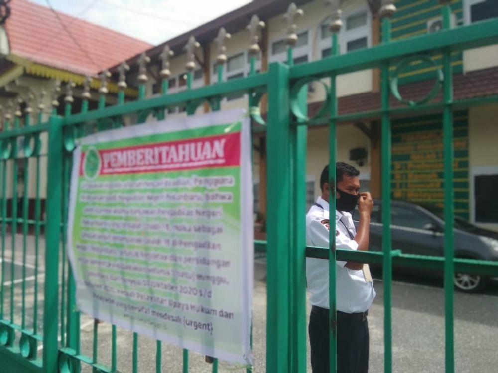 Hari Pertama Lockdown, PN Pekanbaru Tetap Buka Pelayanan