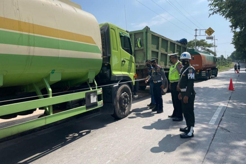 Hari Pertama Razia di Dumai, 56 Kendaraan Ditilang