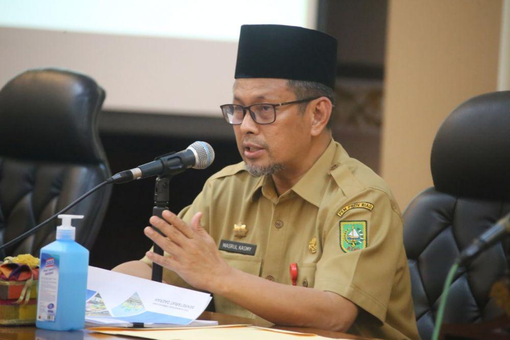 Hasil Evaluasi APBD Riau, Fisik 33 Persen dan Keuangan 20,1 Persen, Pj Sekda  Minta OPD Gesa Kegiatan