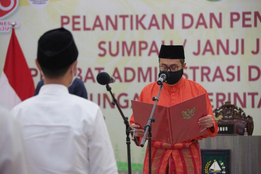 Ini Pesan Gubernur Riau Untuk 204 Pejabat Baru Dilantik