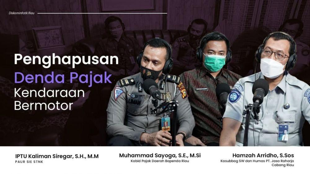 Jasa Raharja Dukung Pemprov Riau Hapus Denda Pajak Kendaraan Bermotor