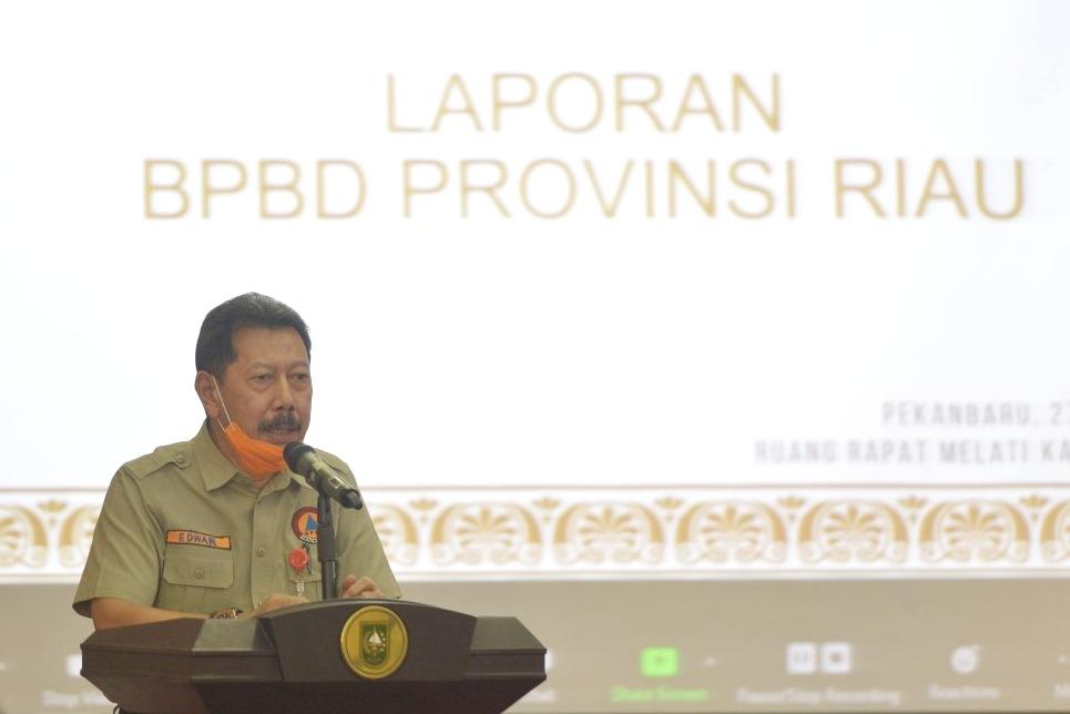 Jelang Pensiun, Kepala BPBD Riau Ucapkan Permohonan Maaf