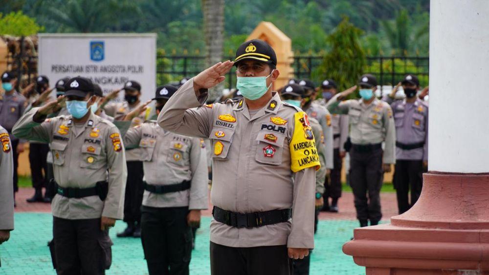 Jelang Pilkada Serentak, Polres Siak Gelar Apel Pengecekan Pergeseran Pasukan Dalam Rangka Pengamanan TPS