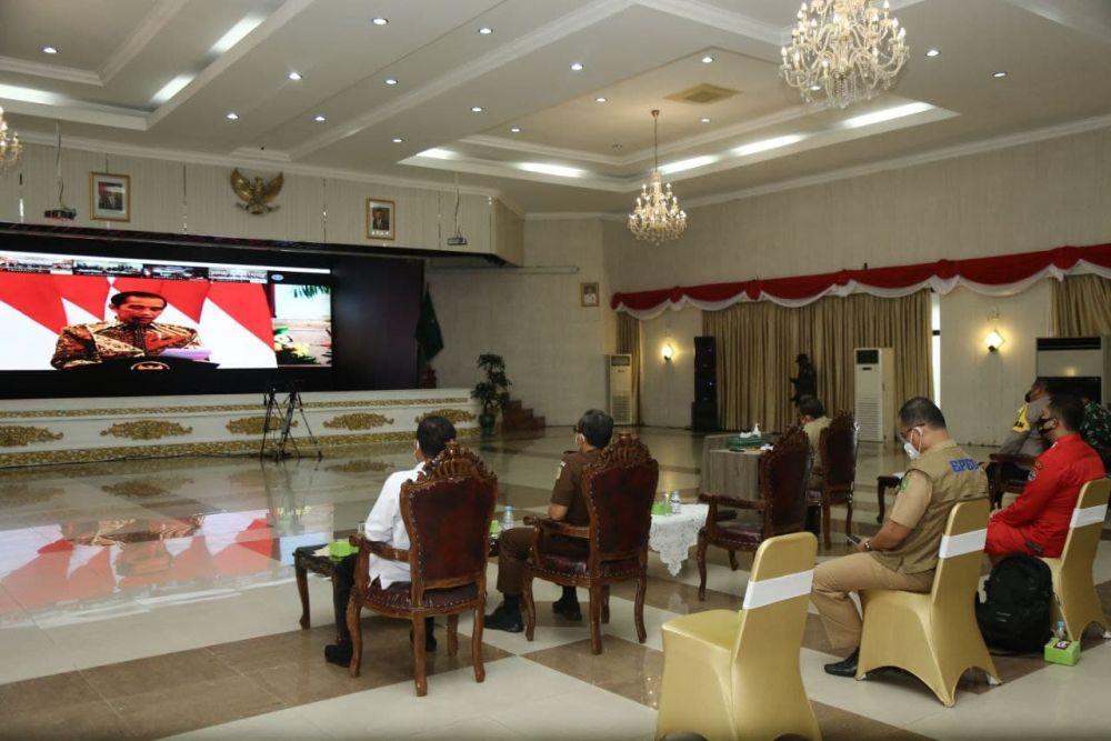 Jokowi Beri Arahan Pada Rakornas Pengendalian Karhutla Tahun 2021