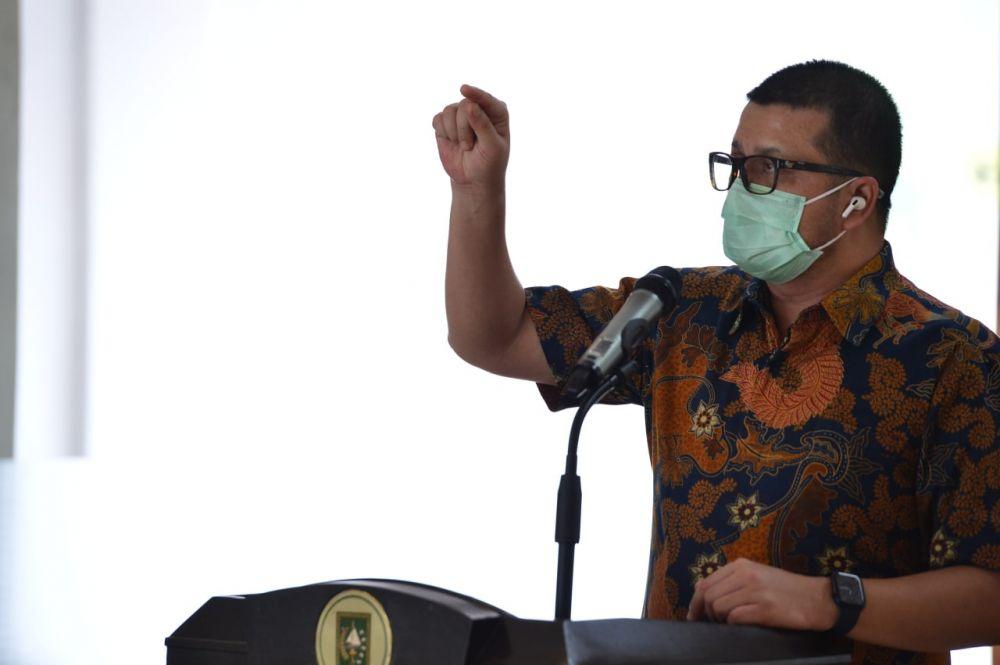 Jubir Satgas Covid-19 Riau Beri Semangat Nakes di Riau