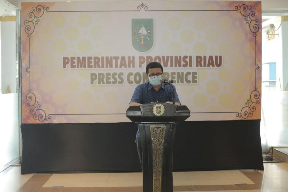 Jumlah Kasus Positif Covid-19 di Riau Relatif Stabil