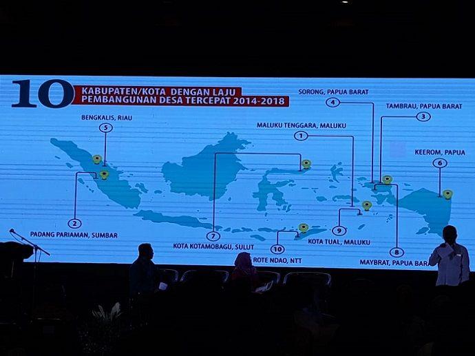 Kabupaten Bengkalis Terbaik Kelima se-Indonesia Laju Pembangunan Desa Tercepat 2014-2018