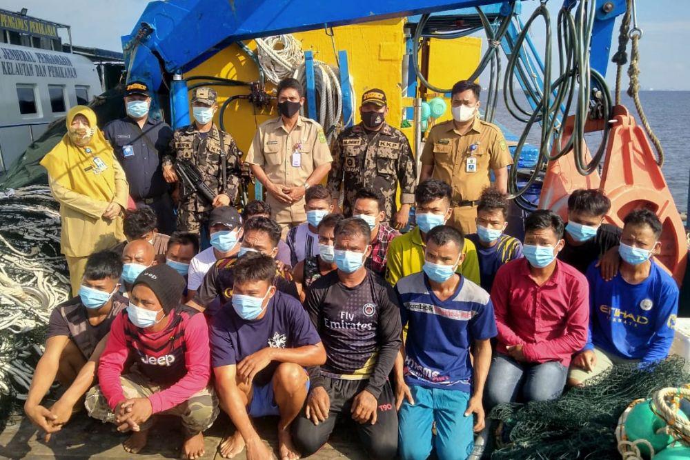 Kapal illegal fishing Bendera Malaysia Kembali Ditangkap di Perairan Rohil Riau